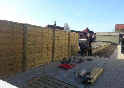 Holz Dichtzaun  Garten und Landschaftsbau Winnen